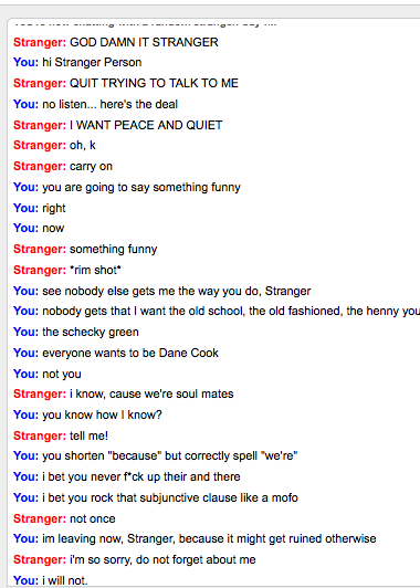 Hot stranger chat